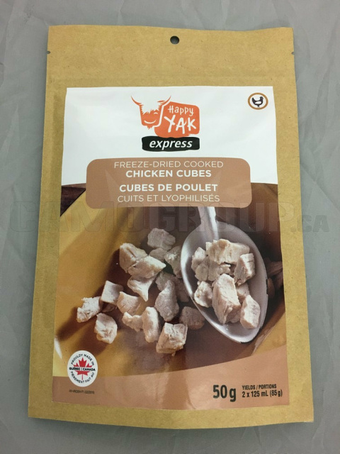 Happy Yak Freeze Dried Chicken Cubes Central Alberta